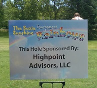 Photo Of Syracuse, NY Wealth Management Company, Golf Tourney Sponsor Sign - HighPoint Advisors, LLC