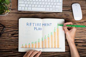 Hand-Drawn Retirement Plan Growth Chart
