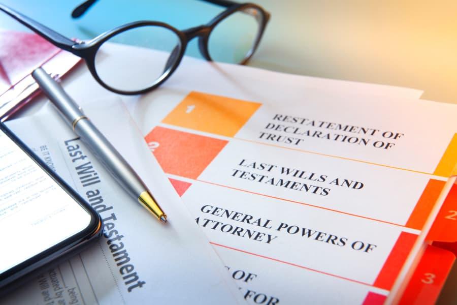 Pen On Living Trust Documents