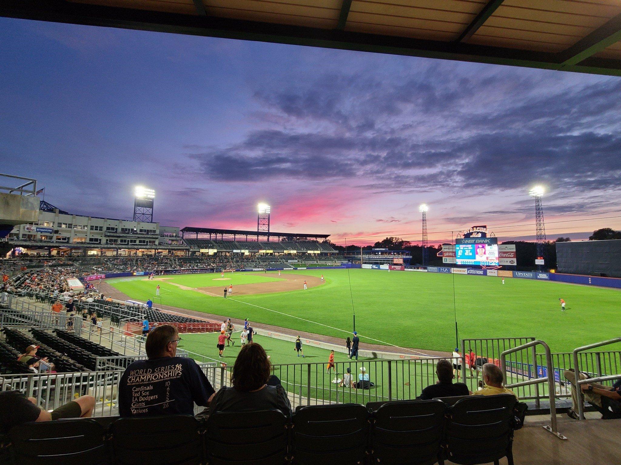 Sunset at the stadium